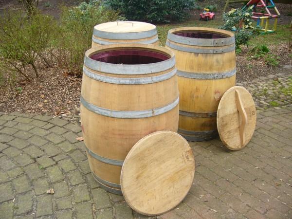 Berühmt Regentonne vom Holzfass gefertigt, 180 - 500 Liter Regentonne TD19